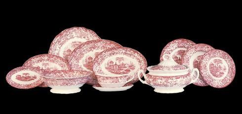 Vajilla 42 pzas modelo 202 rosa la cartuja de sevilla for Vajilla la cartuja