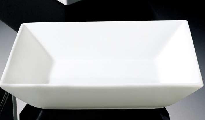 Plato hondo cuadrado porcelana fine china 20cm for Platos cuadrados de porcelana