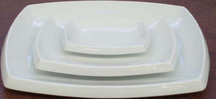 Plato cuadrado peq bordes doblados porcelana fina 10x12 cm for Platos cuadrados de porcelana