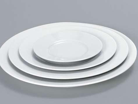 Plato pan 15 cm con ala porcelana blanca fina for Platos porcelana blanca