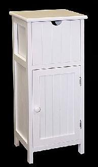 Mueble auxiliar puerta y caj n blanco 65x28x25 for Mueble auxiliar dormitorio