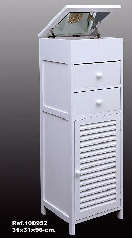 Mueble tocador joyero blanco madera con espejo - Mueble espejo joyero ...