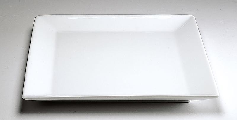 Plato cuadrado 27 cm porcelana blanca for Platos cuadrados de porcelana
