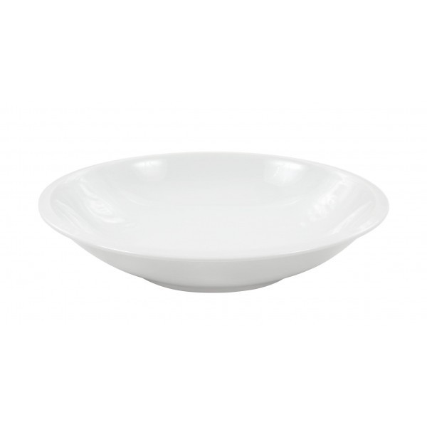 Plato hondo liso bordes porcelana blanca for Platos porcelana blanca