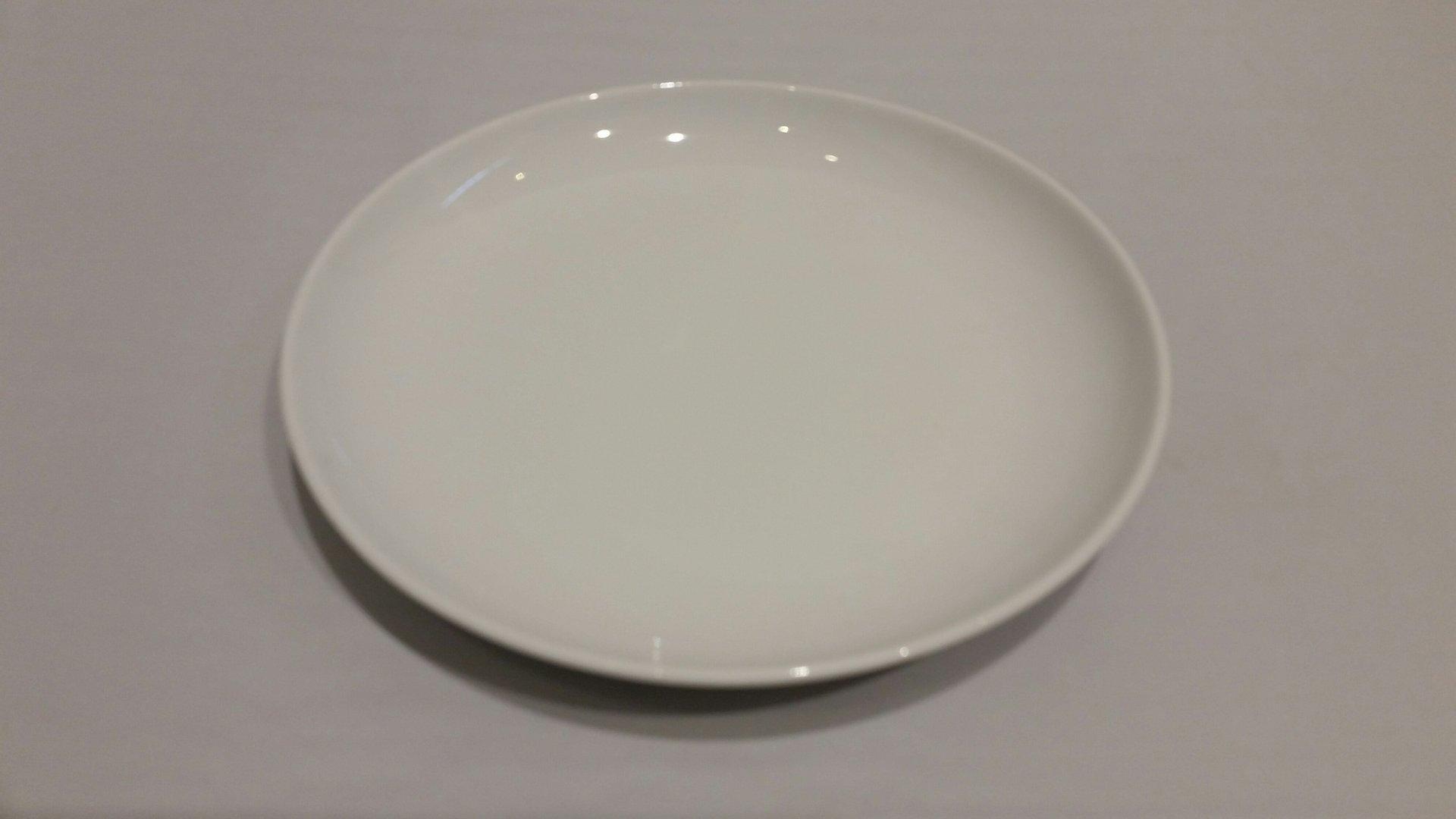 Plato postre 18cm liso porcelana blanca for Platos porcelana blanca