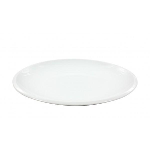 Plato postre liso 20 5 cm bordes porcelana blanca for Platos porcelana blanca